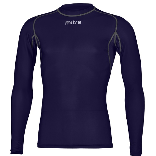 Mitre Men s Neutron Long Sleeve Compression Top - NAVY  f790202bc