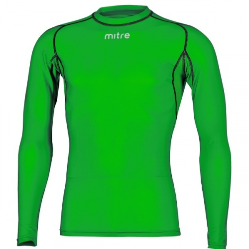 Mitre Men's Neutron Long Sleeve Compression Top - EMERALD