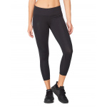 2XU Women's Mid Rise 7/8 Compression Tight - BLACK/DOTTED BLACK 2XU Women's Mid Rise 7/8 Compression Tight - BLACK/DOTTED BLACK