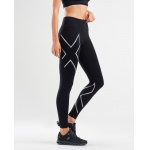 2XU Womens Mid Rise Compression Long Tight - BLACK/MULTI CHROME ZEPHYR 2XU Womens Mid Rise Compression Long Tight - BLACK/MULTI CHROME ZEPHYR