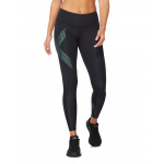 2XU Womens Mid Rise Compression Long Tight - Black/Cloud Blue 2XU Womens Mid Rise Compression Long Tight - Black/Cloud Blue