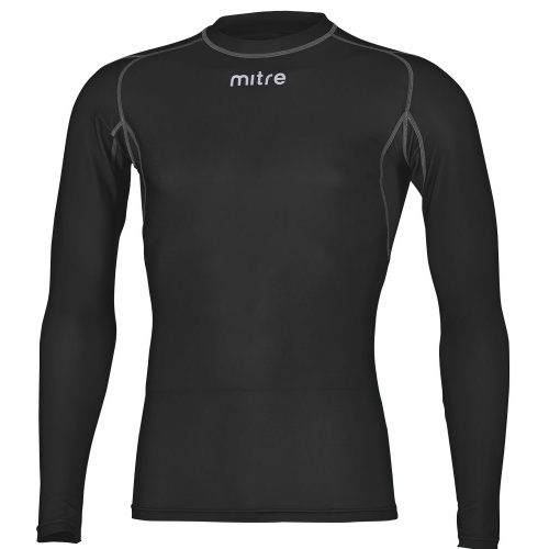 Mitre Youth Neutron Compression Long Sleeve Top - BLACK