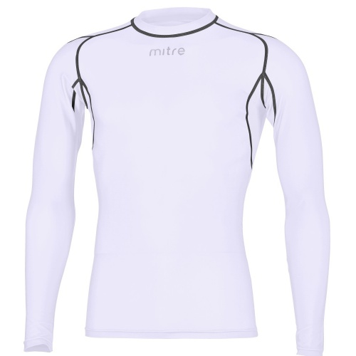 Mitre Youth Neutron Compression Long Sleeve Top - White