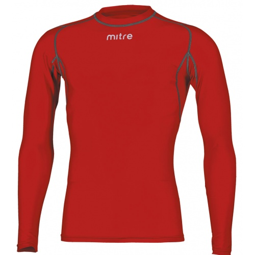Mitre Youth Neutron Compression Long Sleeve Top - Scarlett