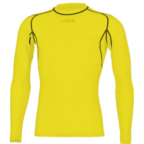 Mitre Youth Neutron Compression Long Sleeve Top - Yellow