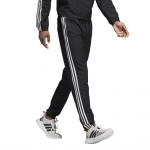 Adidas Men's Essentials 3 Stripes Wind Pant - Black/White Adidas Men's Essentials 3 Stripes Wind Pant - Black/White