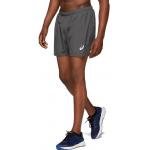 ASICS Mens SILVER 5-inch Running Short - DARK GREY ASICS Mens SILVER 5-inch Running Short - DARK GREY