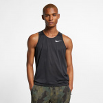 Nike Men's Dri-Fit Miler Running Singlet - BLACK Nike Men's Dri-Fit Miler Running Singlet - BLACK