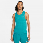 Nike Mens Dri-Fit Miler Running Tank - BLUSTERY/REFLECTIVE SILVER Nike Mens Dri-Fit Miler Running Tank - BLUSTERY/REFLECTIVE SILVER