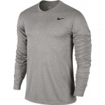 Nike Men's Dry Legend Long Sleeve Training Top - Dark Grey Heather/Black - MAY 19 Nike Men's Dry Legend Long Sleeve Training Top - Dark Grey Heather/Black - MAY 19