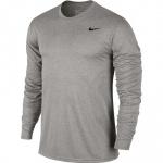 Nike Men's Dry Legend Long Sleeve Training Top - Dark Grey Heather/Black Nike Men's Dry Legend Long Sleeve Training Top - Dark Grey Heather/Black