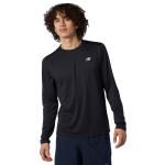 New Balance Mens Accelerate Long Sleeve Tee - BLACK New Balance Mens Accelerate Long Sleeve Tee - BLACK
