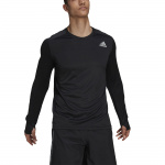 Adidas Mens Own The Run Long Sleeve Tee - BLACK/BLACK Adidas Mens Own The Run Long Sleeve Tee - BLACK/BLACK