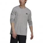 Adidas Mens Designed 2 Move Feelready Sport Long Sleeve Tee - Medium Grey Heather/Black Adidas Mens Designed 2 Move Feelready Sport Long Sleeve Tee - Medium Grey Heather/Black