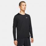 Nike Mens Dri-Fit Miler Long Sleeve Running Top - BLACK/REFLECTIVE SILVER Nike Mens Dri-Fit Miler Long Sleeve Running Top - BLACK/REFLECTIVE SILVER