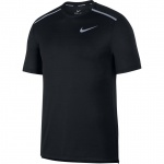 Nike Men's Dri-Fit Miler Running Top - BLACK/REFLECTIVE SILVER Nike Men's Dri-Fit Miler Running Top - BLACK/REFLECTIVE SILVER