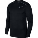 Nike Men's DRi-FIT Miler Long-Sleeve Running Top - BLACK Nike Men's DRi-FIT Miler Long-Sleeve Running Top - BLACK