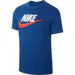 Nike Men's Brand Sportswear T-Shirt - INDIGO FORCE/WHITE/TEAM ORANGE Nike Men's Brand Sportswear T-Shirt - INDIGO FORCE/WHITE/TEAM ORANGE