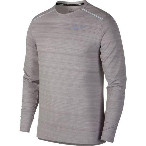938ccbd1 Nike Men's DRi-FIT Miler Long-Sleeve Running Top - ATMOSPHERE GREY |  Sportsmart | Melbourne's largest sports warehouses