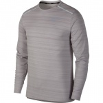 Nike Men's DRi-FIT Miler Long-Sleeve Running Top - ATMOSPHERE GREY Nike Men's DRi-FIT Miler Long-Sleeve Running Top - ATMOSPHERE GREY