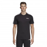 Adidas Mens Essentials 3-Stripes Tee - BLACK/WHITE Adidas Mens Essentials 3-Stripes Tee - BLACK/WHITE