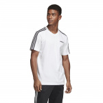 Adidas Mens Essentials 3-Stripes Tee - WHITE/BLACK Adidas Mens Essentials 3-Stripes Tee - WHITE/BLACK