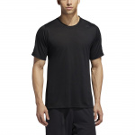 Adidas Mens FreeLift Tech Climacool Fitted Tee - Black/Black Adidas Mens FreeLift Tech Climacool Fitted Tee - Black/Black