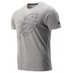 New Balance Mens Graphic Heathertech Tee -  Athletic Grey New Balance Mens Graphic Heathertech Tee -  Athletic Grey