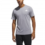 Adidas Mens FreeLift Sport Prime Lite Tee - Grey Three Adidas Mens FreeLift Sport Prime Lite Tee - Grey Three