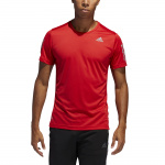 Adidas Mens Own The Run Tee - Scarlet Adidas Mens Own The Run Tee - Scarlet