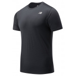 New Balance Mens Accelerate Short Sleeve Running Tee - BLACK New Balance Mens Accelerate Short Sleeve Running Tee - BLACK
