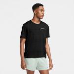 Nike Mens Dri-Fit Miler Running Top - BLACK Nike Mens Dri-Fit Miler Running Top - BLACK