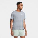 Nike Mens Dri-Fit Miler Running Top - SMOKE GREY/REFLECTIVE SILVER Nike Mens Dri-Fit Miler Running Top - SMOKE GREY/REFLECTIVE SILVER