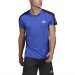 Adidas Mens Own The Run Tee - Team Royal Blue/REFLECTIVE SILVER Adidas Mens Own The Run Tee - Team Royal Blue/REFLECTIVE SILVER