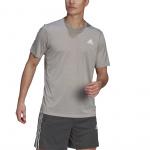 Adidas Mens Designed 2 Move Heathered Sport Tee - Medium Grey Heather Adidas Mens Designed 2 Move Heathered Sport Tee - Medium Grey Heather