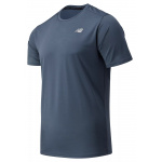 New Balance Mens Accelerate Short Sleeve Running Tee - THUNDER New Balance Mens Accelerate Short Sleeve Running Tee - THUNDER