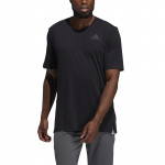 Adidas Mens City Elevated Tee - Black Melange Adidas Mens City Elevated Tee - Black Melange