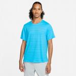 Nike Mens Dri-Fit Miler Running Top - CHLORINE BLUE/REFLECTIVE SILVER Nike Mens Dri-Fit Miler Running Top - CHLORINE BLUE/REFLECTIVE SILVER