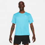 Nike Mens Miler Run Division Running Top  -  CHLORINE BLUE/REFLECTIVE SILVER Nike Mens Miler Run Division Running Top  -  CHLORINE BLUE/REFLECTIVE SILVER