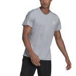 Adidas Mens Own The Run Tee - Halo Silver Adidas Mens Own The Run Tee - Halo Silver