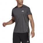 Adidas Mens Own The Run Tee - Grey Six Adidas Mens Own The Run Tee - Grey Six