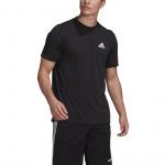 Adidas Mens Designed 2 Move Feelready Sport Tee - Black/White Adidas Mens Designed 2 Move Feelready Sport Tee - Black/White