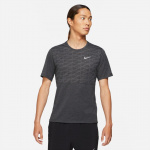 Nike Mens Dri-Fit Run Division Miler Running Top - BLACK HEATHER/REFLECTIVE SILVER Nike Mens Dri-Fit Run Division Miler Running Top - BLACK HEATHER/REFLECTIVE SILVER