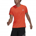Adidas Mens Own The Run Tee - APP SOLAR RED Adidas Mens Own The Run Tee - APP SOLAR RED