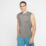 Nike Men's Legend 2.0 Dry Training Sleeveless Running Top - DK GREY HEATHER Nike Men's Legend 2.0 Dry Training Sleeveless Running Top - DK GREY HEATHER
