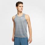 Nike Men's Dri-FIT Miler Running Tank - SMOKE GREY/HTR Nike Men's Dri-FIT Miler Running Tank - SMOKE GREY/HTR