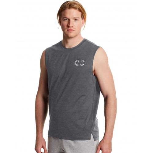 Champion Mens Sport Muscle Tee - GREY
