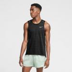 Nike Mens Dri-Fit Miler Running Tank - BLACK Nike Mens Dri-Fit Miler Running Tank - BLACK