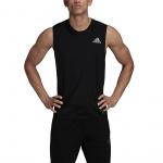 Adidas Mens Own the Run Sleeveless Tee - BLACK Adidas Mens Own the Run Sleeveless Tee - BLACK