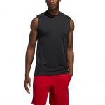 Adidas Mens AEROREADY 3-Stripes Sleeveless Tee - BLACK Adidas Mens AEROREADY 3-Stripes Sleeveless Tee - BLACK